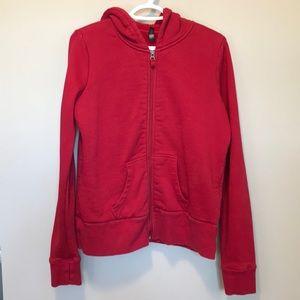 Denverhaynes Long Sleeve Red Zip UP Hooded Sweater